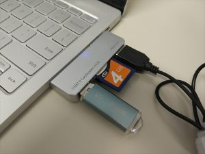 カード(SD・MicroSD)の同時使用不可