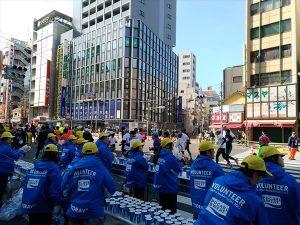 東京マラソン給水所
