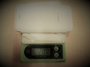iPhone 7装着(207g)