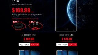【DOOGEE NEWS】7月10日16時開始 DOOGEE MIX プロモーションセール「Banggood」